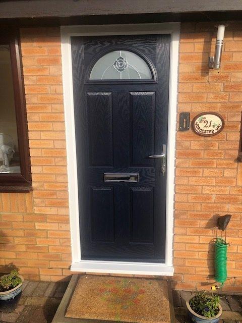 new blue composite door