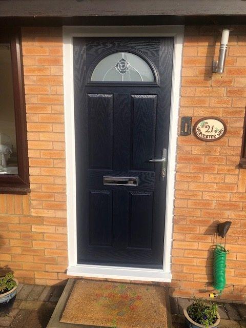 newly installed composite door