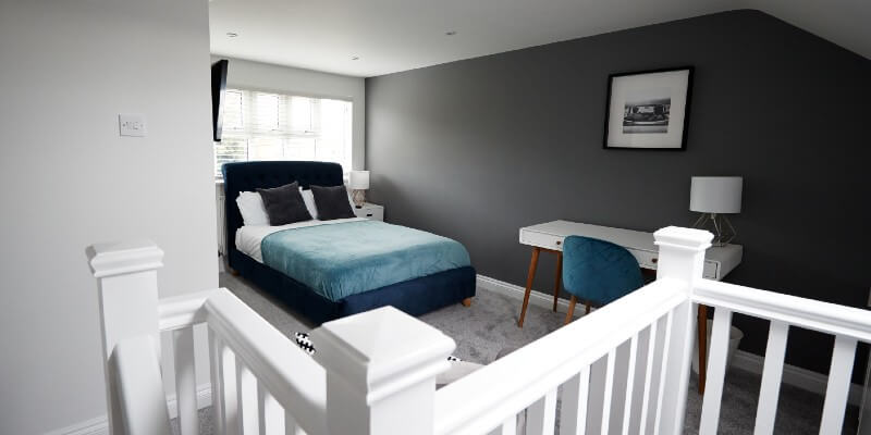 loft converted into bedroom