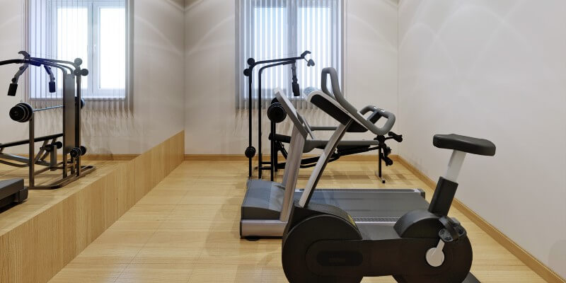 Home Gym With Mirrors
